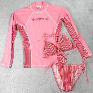 Patagonia Water Girl Swim Set Rash Guard Bikini Sm